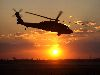 UH-60 Blackhawk Helicopter at Sunset, Iraq Wallpaper